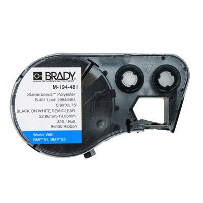 Brady M-194-481 BMP53/BMP51 Label Cartridge - White