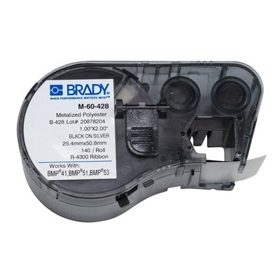 Brady M-60-428 BMP51/BMP41 Label Cartridge - Black on Light Gray