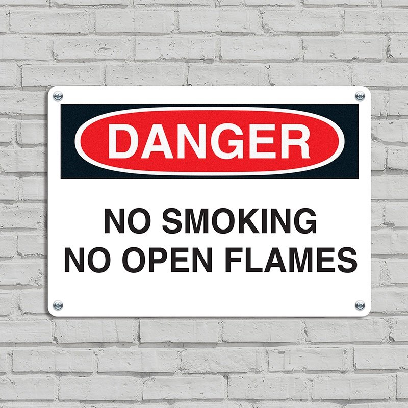 Danger Signs - No Smoking No Open Flames