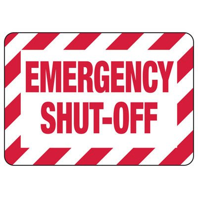 Lockout/Electrical Signs - Emergency Shut-Off