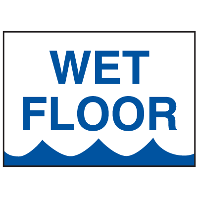 Magnetic Housekeeping Signs - Wet Floor