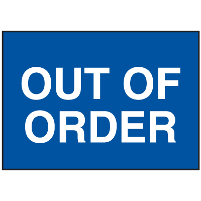 Magnetic Housekeeping Signs  - Out of order