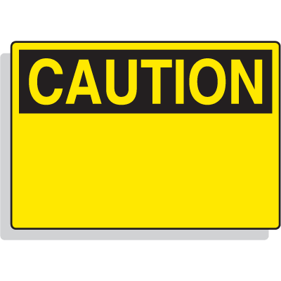 Magnetic OSHA Signs - Caution Header