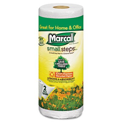 Marcal® Small Steps™ 100% Premium Recycled™ Quilted Roll Towels 6709