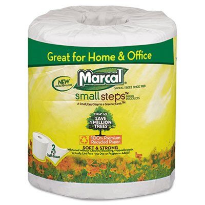 Marcal® Small Steps™ 100% Premium Recycled™ Two-Ply Bathroom Tissue MRC6079