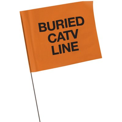 Marking Flags - Buried CATV Line