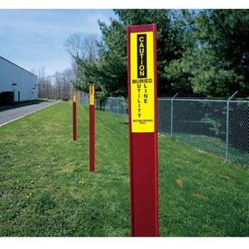 Marking Stake Label - Buried Utility Line