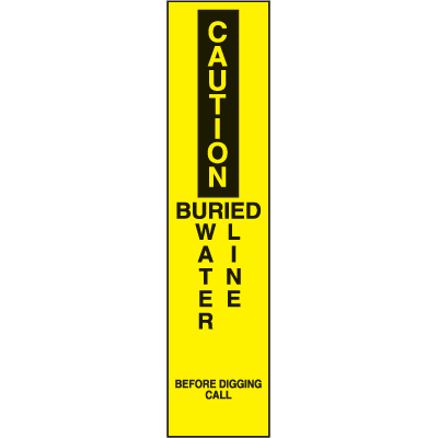Marking Stake Label - Buried Water Line
