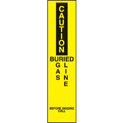 Marking  Stake Label - Buried Gas Line