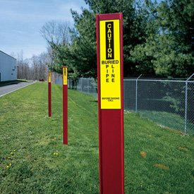 Marking Stake Label - Buried Pipe Line