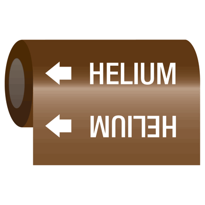 Medical Gas Self-Adhesive Pipe Markers-On-A-Roll - Helium