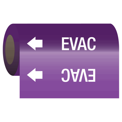 Medical Gas Self-Adhesive Pipe Markers-On-A-Roll - Evac