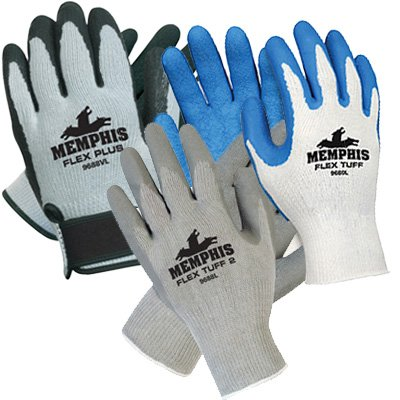 Memphis® Flex Tuff® Latex Dipped Gloves