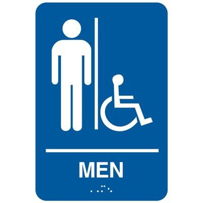 Men (Accessibility) - California Code Economy Restroom Signs