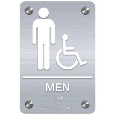 Men ADA Restroom Signs