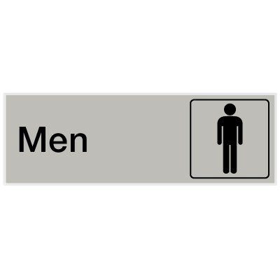 Men - Engraved Rest Room Signs