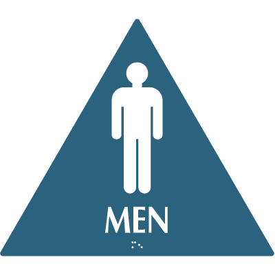 Men - Optima California Code Restroom Signs