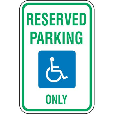 Michigan State Handicap Signs - Reserved Parking Only