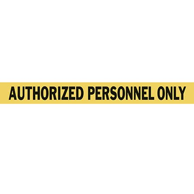 Mighty Line Authorized Personnel Only Floor Tape