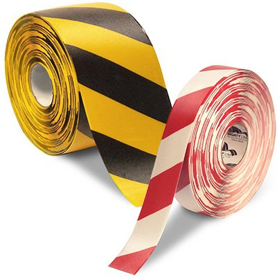 Mighty Line Diagonal Hazard Floor Tape