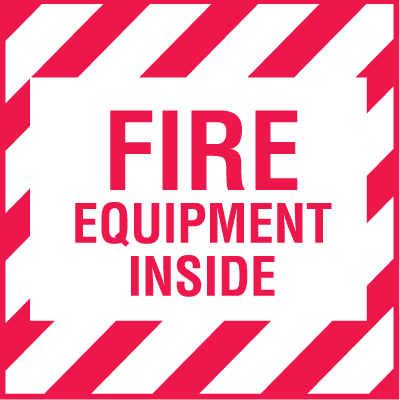 Mini Fire Extinguisher Decals - Fire Equipment Inside