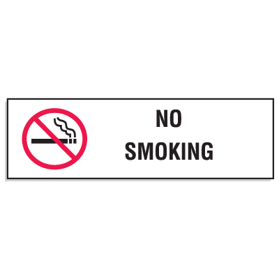 Mini No Smoking Signs - 3W x 10H (w/Graphic)