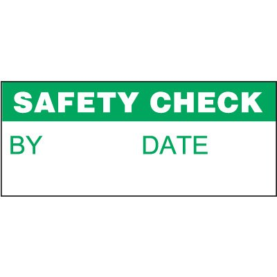 Safety Check Miniature Labels
