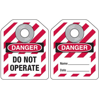Mini Safety Lockout Tags - Danger Do Not Operate