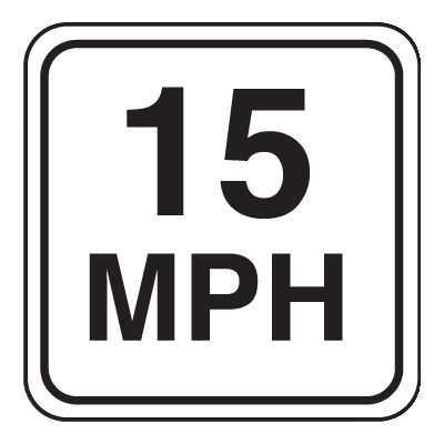 Mini Speed Limit Signs - 15 MPH