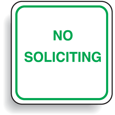 Mini Parking Signs - No Soliciting