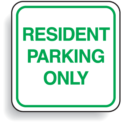 Mini Parking Signs - Resident Parking Only