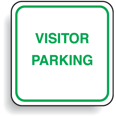 Mini Parking Signs - Visitor Parking