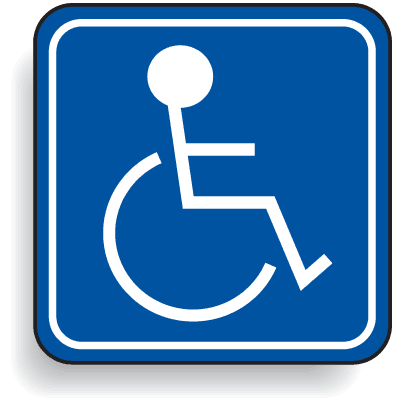 Mini Handicapped Parking Signs