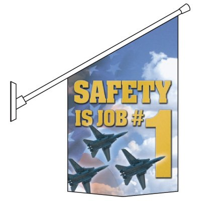 Motivational Pole Banner Kits - Safety Is Job # 1