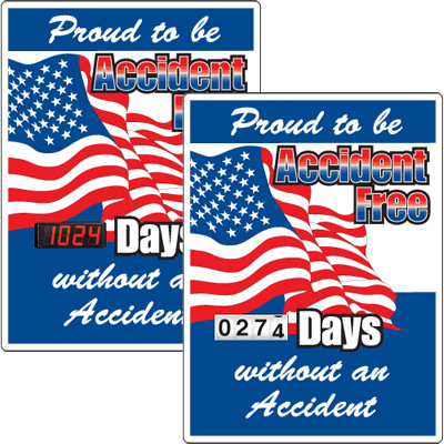 Motivational Safety Scoreboards - Proud To Be Accident Free