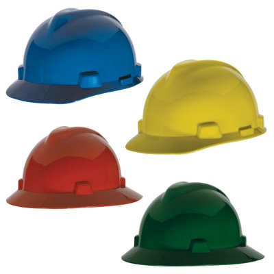 MSA V-Gard® Staz-On® Caps & Hard Hats