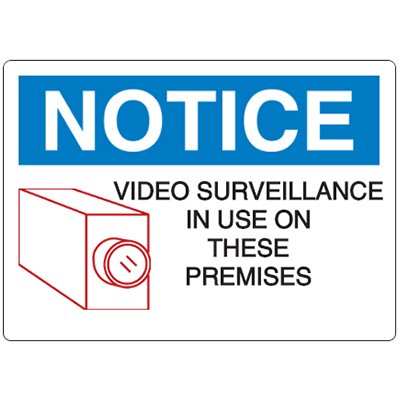 N-6 Notice Video Surveillance- Aluminum