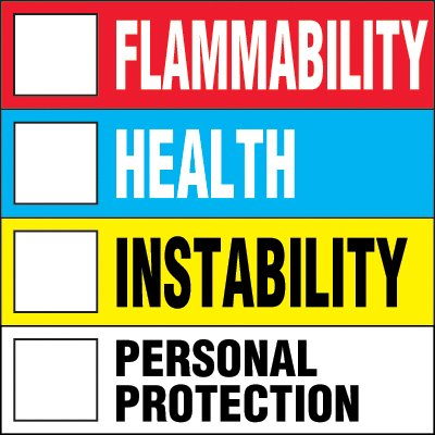 NFPA Color Bar Chemical Hazard Label