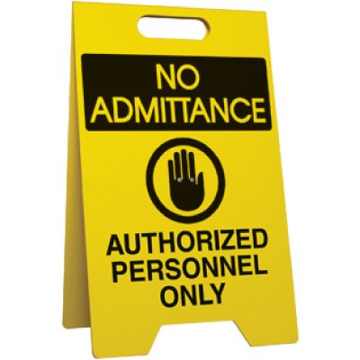 No Admittance Portable - Floor Stand