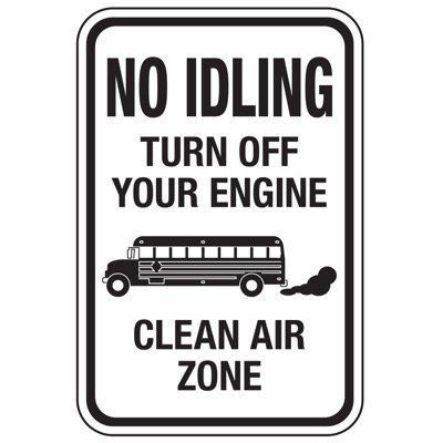No Idling Clean Air Zone - No Idling Signs