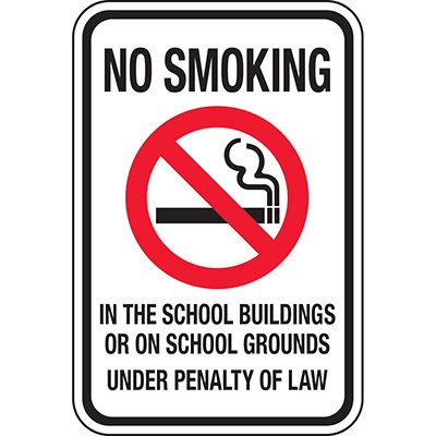 No Smoking In The School Buildings Sign