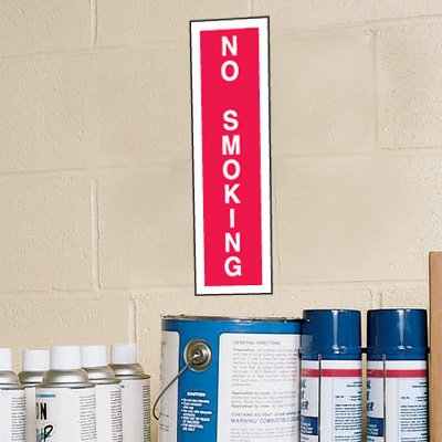 No Smoking Signs - 4W x 14H Plastic