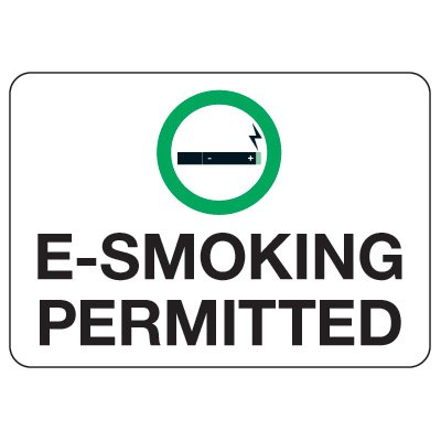 No Smoking Signs - E-Smoking Permitted