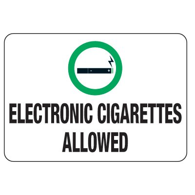 No Smoking Signs - Electronic Cigarettes Allowed