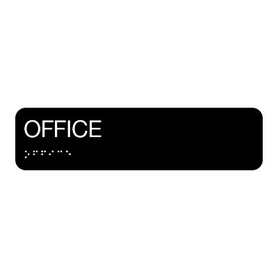 Office - Standard Worded Braille Signs