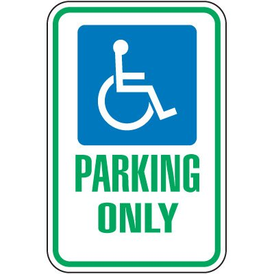 Ohio State Handicap Signs - Parking Only