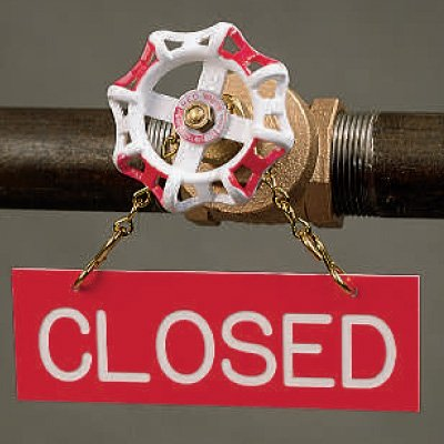 Closed Valve Sprinkler Sign