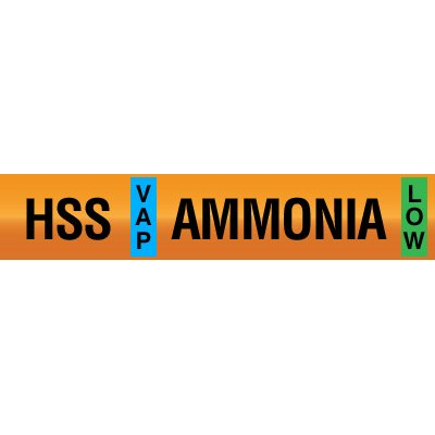 Opti-Code™ Ammonia Pipe Markers - High Stage Suction
