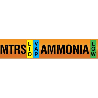 Opti-Code™ Ammonia Pipe Markers - Medium Temperature Recirculated Suction