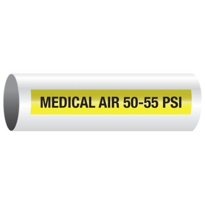 Custom Opti-Code™ Self-Adhesive Medical Gas Pipe Markers